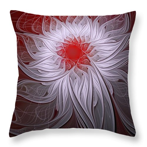 Digital Art Throw Pillow featuring the digital art Blush by Amanda Moore