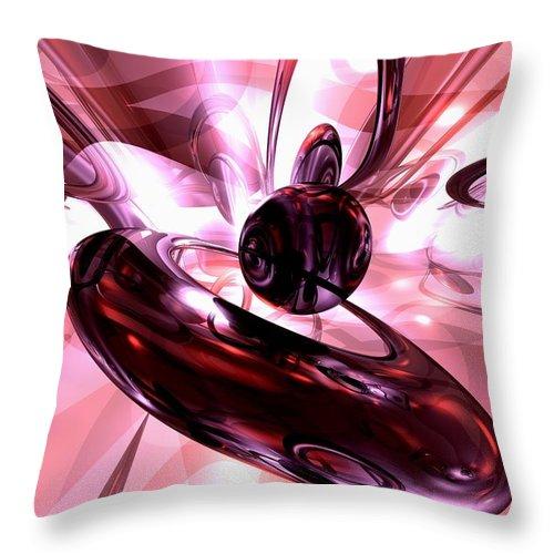 3d Throw Pillow featuring the digital art Blushing Abstract by Alexander Butler