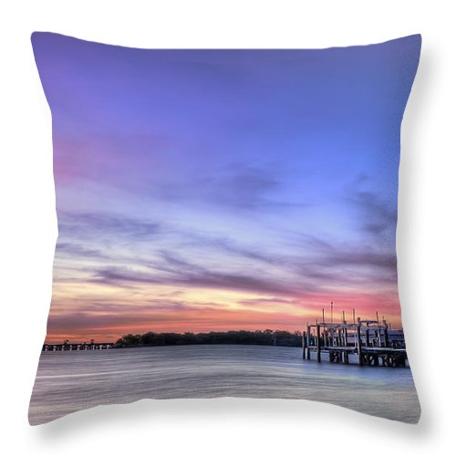 Sunrise Throw Pillow featuring the photograph Blushing Skies by Evelina Kremsdorf