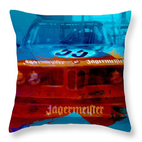 Throw Pillow featuring the photograph Bmw Jagermeister by Naxart Studio