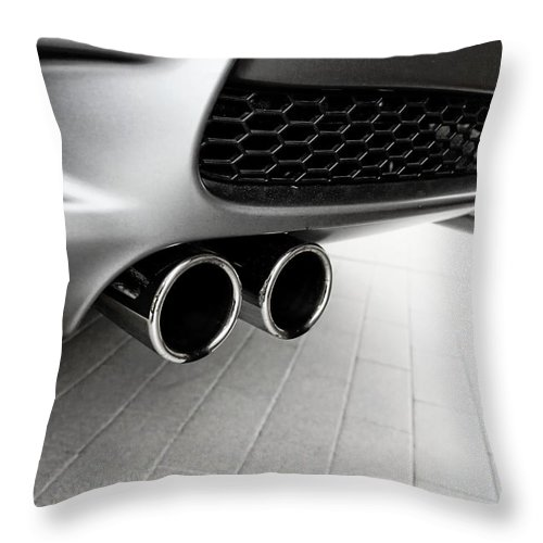 Bmw M3 Throw Pillow featuring the photograph Bmw M3 Exhaust by Aaron Berg