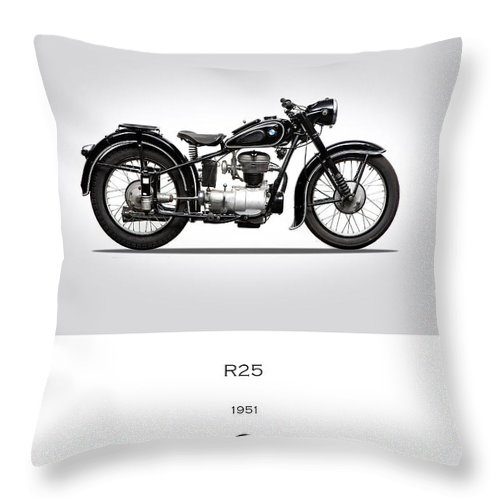 Bmw Throw Pillow featuring the photograph Bmw R25 by Mark Rogan