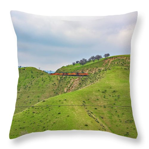 Bnsf Throw Pillow featuring the photograph Bnsf7492 2 by Jim Thompson