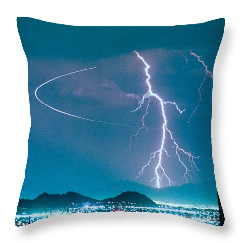 Lightning Throw Pillow featuring the photograph Bo Trek The Poster by James BO Insogna