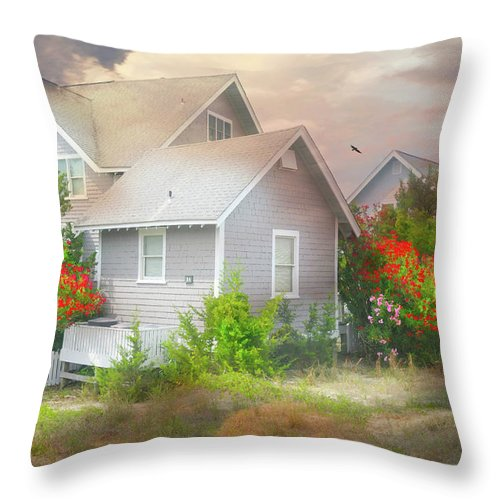 Bald Head Island Throw Pillow featuring the photograph Board Games by Diana Angstadt