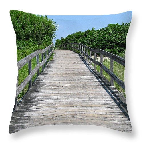 Boardwalk Throw Pillow featuring the photograph Boardwalk by Colleen Kammerer