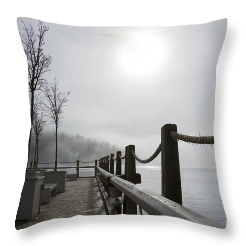 Boardwalk Throw Pillow featuring the photograph Boardwalk Dawn by Idaho Scenic Images Linda Lantzy