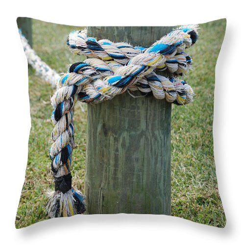 Boats Throw Pillow featuring the photograph Boat Lines by Rob Hans