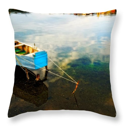 Boat Throw Pillow featuring the photograph Boat by Silvia Ganora