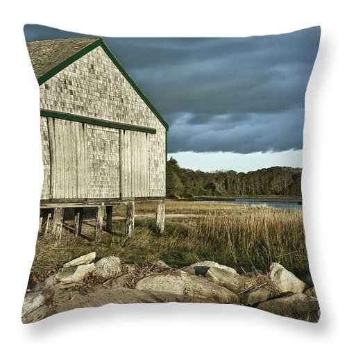 Cape Cod Throw Pillow featuring the photograph Boathouse by John Greim