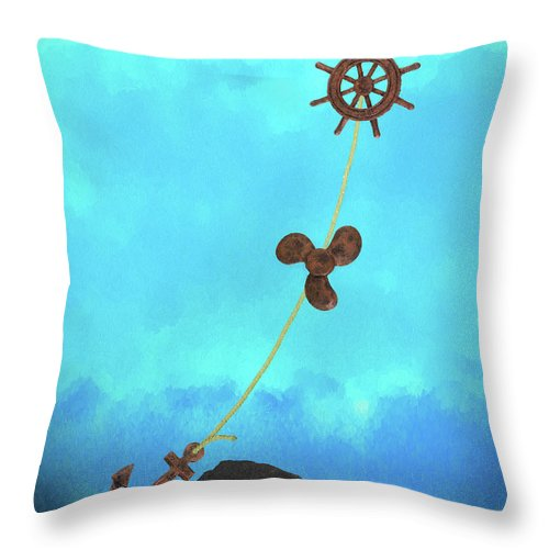 Anchor Throw Pillow featuring the photograph Boating Concept by Tom Mc Nemar