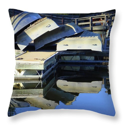 Water Throw Pillow featuring the photograph Boating Incident by Donna Blackhall