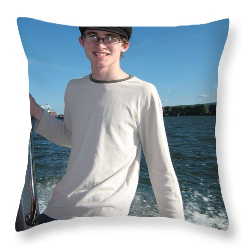 Boat Throw Pillow featuring the photograph Boatride by Alan Espasandin