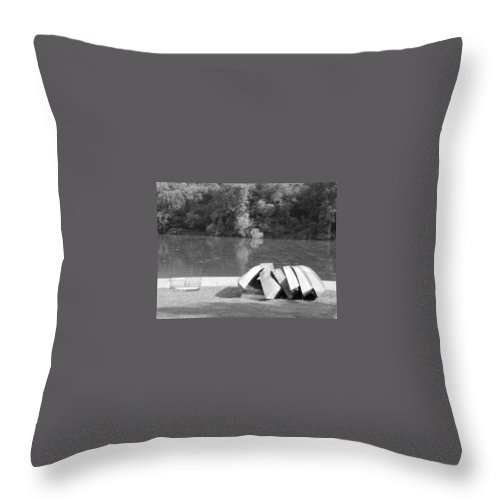 Boats Throw Pillow featuring the photograph Boats At Northpark I by Jacqueline Russell