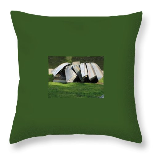 Boats Throw Pillow featuring the photograph Boats In Northpark V by Jacqueline Russell