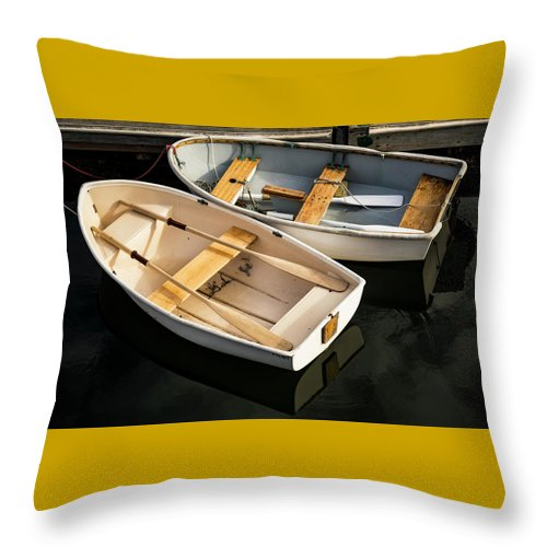 Boat Throw Pillow featuring the photograph Boats On The Lake by Enrico Della Pietra