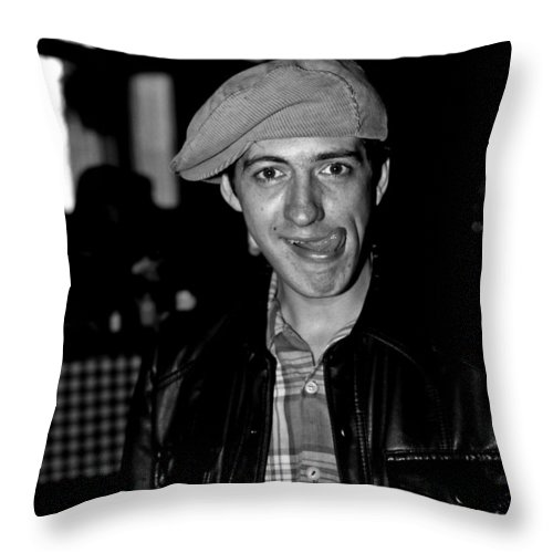 Portrait Throw Pillow featuring the photograph Bob B by Lee Santa