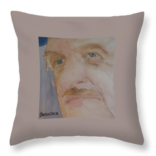 Portrait Throw Pillow featuring the painting Bob I by Jenny Armitage