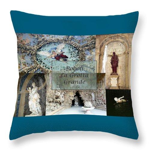 Cave Throw Pillow featuring the photograph Boboli La Grotta Grande 2 by Ellen Henneke