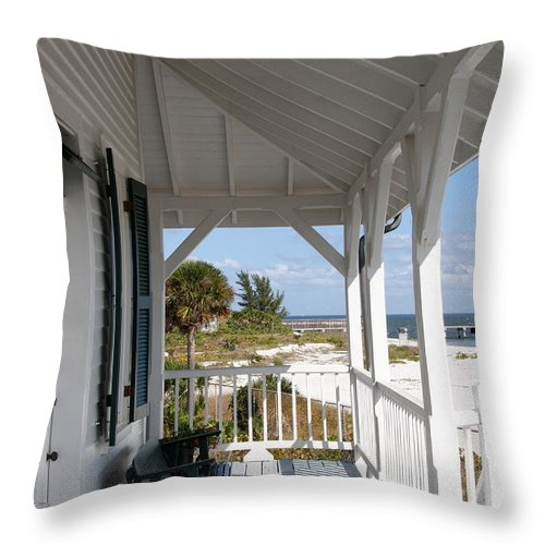 View Throw Pillow featuring the photograph Bocca Grande Lighthouse View by Christiane Schulze Art And Photography