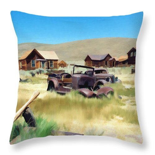 Bodie Throw Pillow featuring the photograph Bodie by Kurt Van Wagner