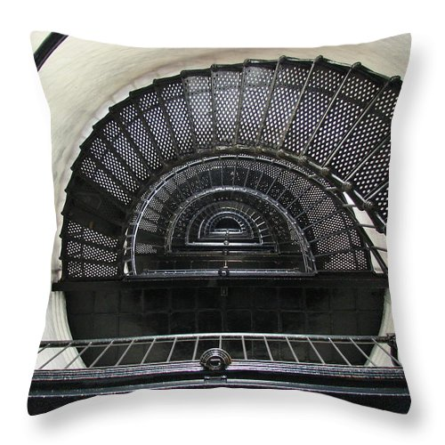 Bodie Lighthouse Throw Pillow featuring the photograph Bodie Lighthouse Nags Head Nc Iv by Brett Winn