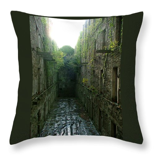 Bodmin Throw Pillow featuring the photograph Bodmin Gaol by Heather Lennox