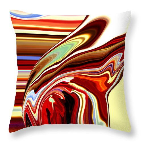 Book Cover Throw Pillow featuring the painting Body Heat I by Donna Proctor
