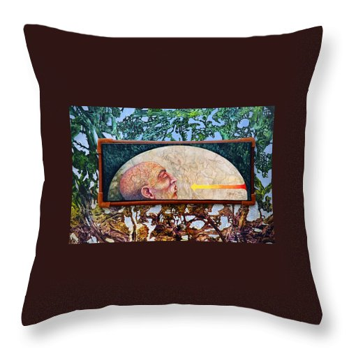 Surrealism Fantasy Fantastic Realism Decalcomania Otto Rapp The Mystic Throw Pillow featuring the painting Bogomil Rising by Otto Rapp