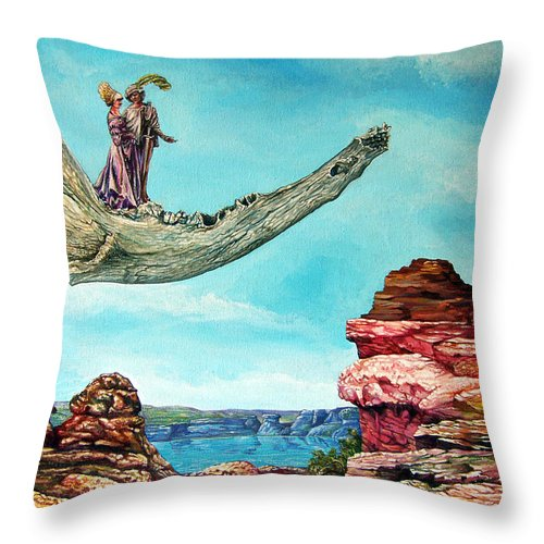 Painting Throw Pillow featuring the painting Bogomils Journey by Otto Rapp