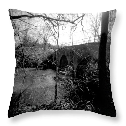Photograph Throw Pillow featuring the photograph Boiling Springs Bridge by Jean Macaluso