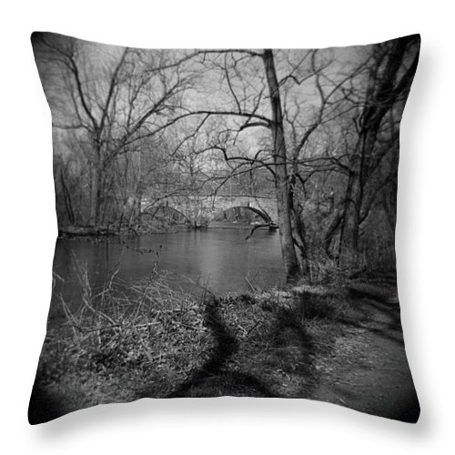 Photograph Throw Pillow featuring the photograph Boiling Springs Stone Bridge by Jean Macaluso