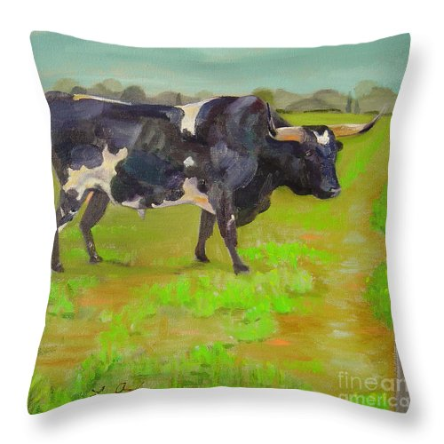 Southwest Throw Pillow featuring the painting Bold Beauty by Lilibeth Andre