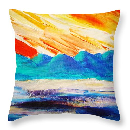 Bright Throw Pillow featuring the painting Bold Day by Melinda Etzold