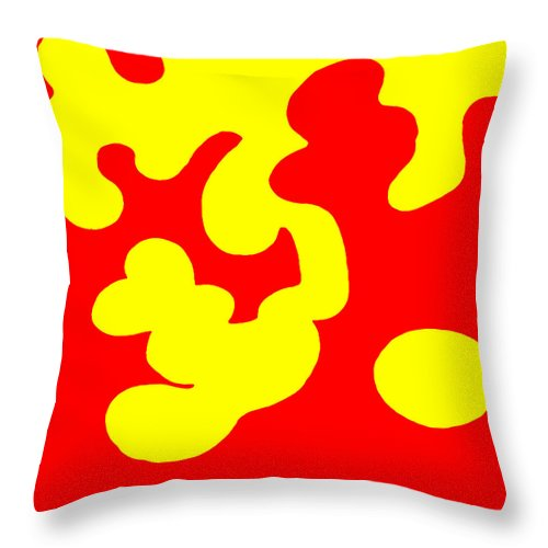 Square Throw Pillow featuring the digital art Bolliwoxer by Eikoni Images