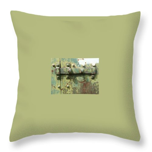 Bolt Throw Pillow featuring the photograph Bolt 1 by Claudia Stewart