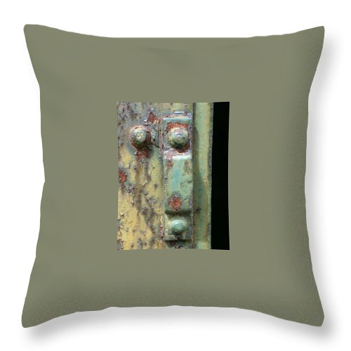 Bolt Throw Pillow featuring the photograph Bolt 2 by Claudia Stewart