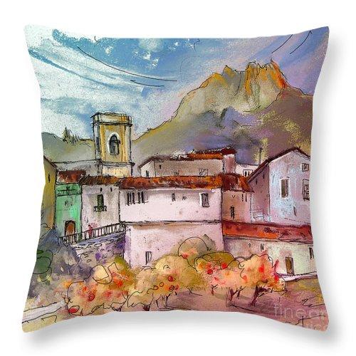 Bolulla Throw Pillow featuring the painting Bolulla 02 by Miki De Goodaboom