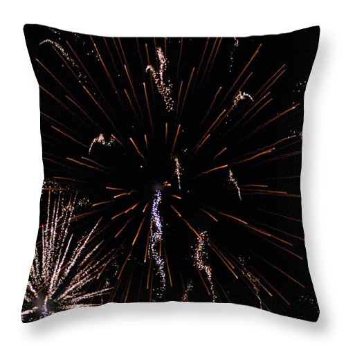 Firwworks Throw Pillow featuring the photograph Bombs2 by David Lane