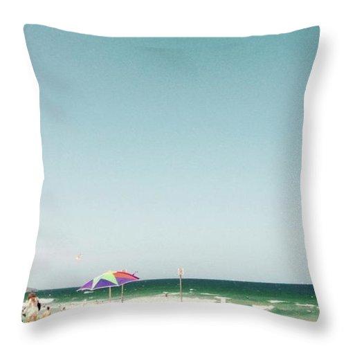Beach Throw Pillow featuring the digital art Bondi Beach by Susan Dietz