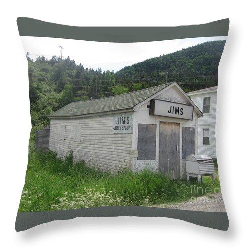 Photograph Bonne Bay Newfoundland Army Navy Store Throw Pillow featuring the photograph Bonne Bay2 by Seon-Jeong Kim