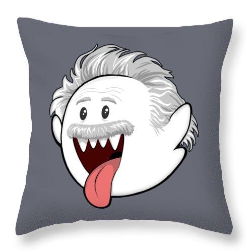 Boo Throw Pillow featuring the digital art Boo-Stein by Olga Shvartsur