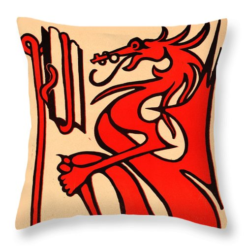 Bookworm 1896 Throw Pillow featuring the photograph Bookworm 1896 by Padre Art