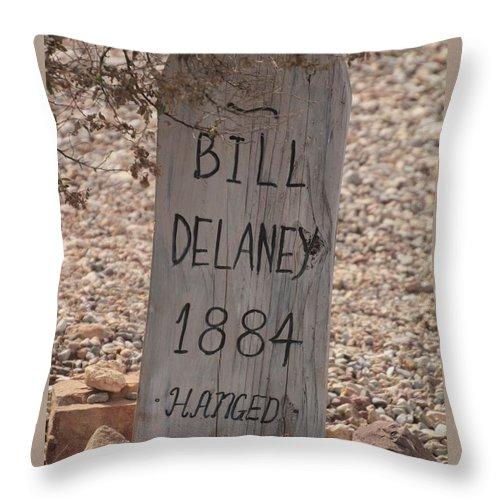 Throw Pillow featuring the photograph Boot Hill, Tombstone, Az by Bill Jordan