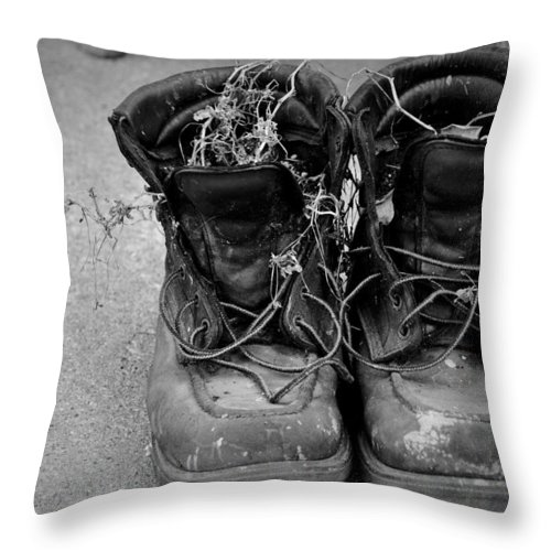 Boots Throw Pillow featuring the photograph Boots 2 by David Arment