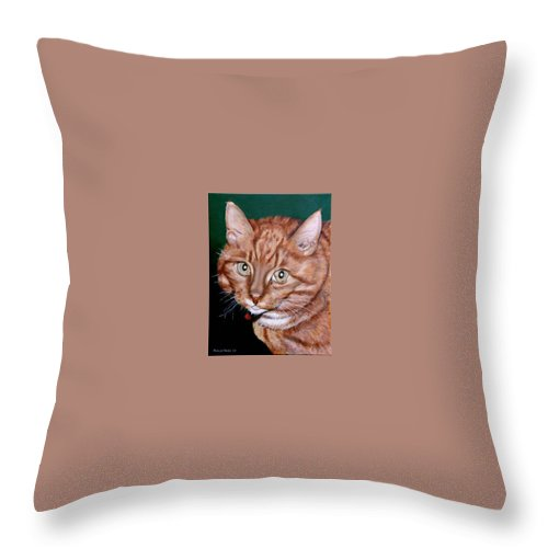 Pets Throw Pillow featuring the painting Boris by Rob De Vries