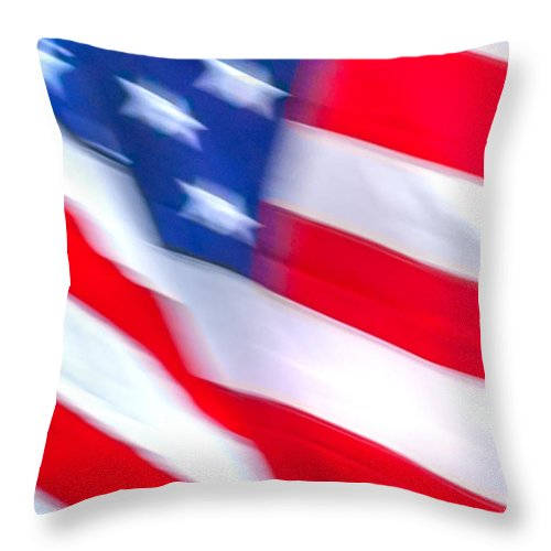 New York City Throw Pillow featuring the photograph Born In The Usa by Az Jackson