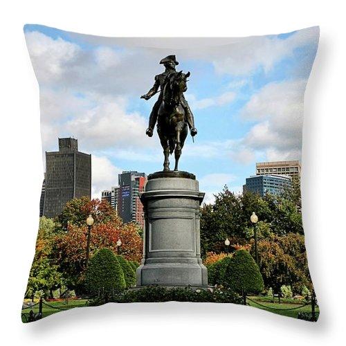 Boston Throw Pillow featuring the photograph Boston Common by DJ Florek