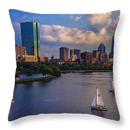 Longfellow Bridge Throw Pillow featuring the photograph Boston Skyline by Rick Berk