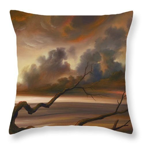 Ocean Throw Pillow featuring the painting Botany Bay by James Christopher Hill